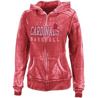 Majestic St. Louis Cardinals Ladies Classic Pride Full Zip Fleece Hoodie - Red #Fanatics