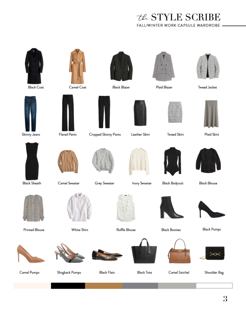FALL/WINTER 2019 WORK CAPSULE WARDROBE // 28 PIECES, 100+ OUTFITS   The Style Scribe