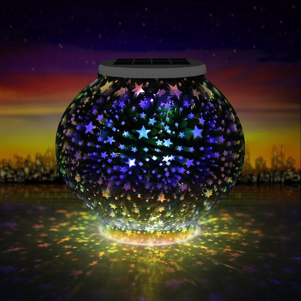 Grde Lampe Solaire Decorative Etoiles Lampe De Chevet Avec Ampoule