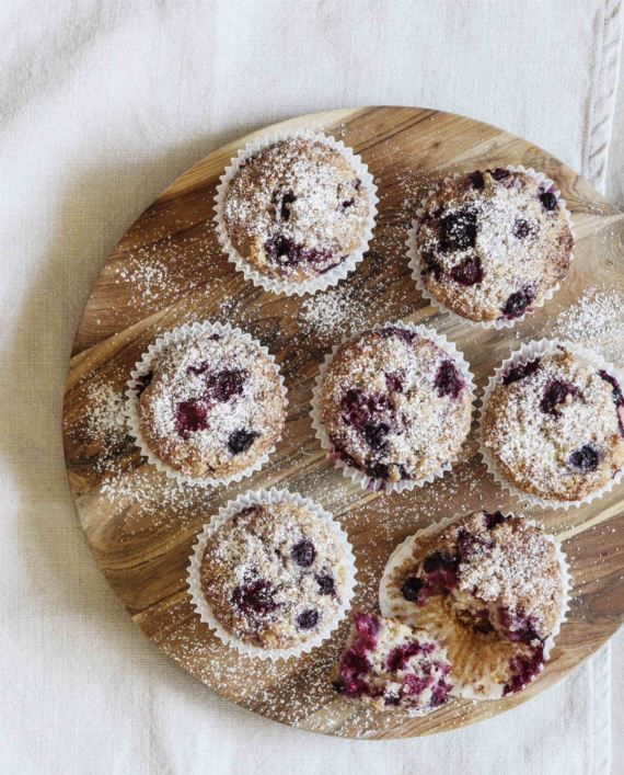 Mixed Berry & Coconut Muffins - BakeClub