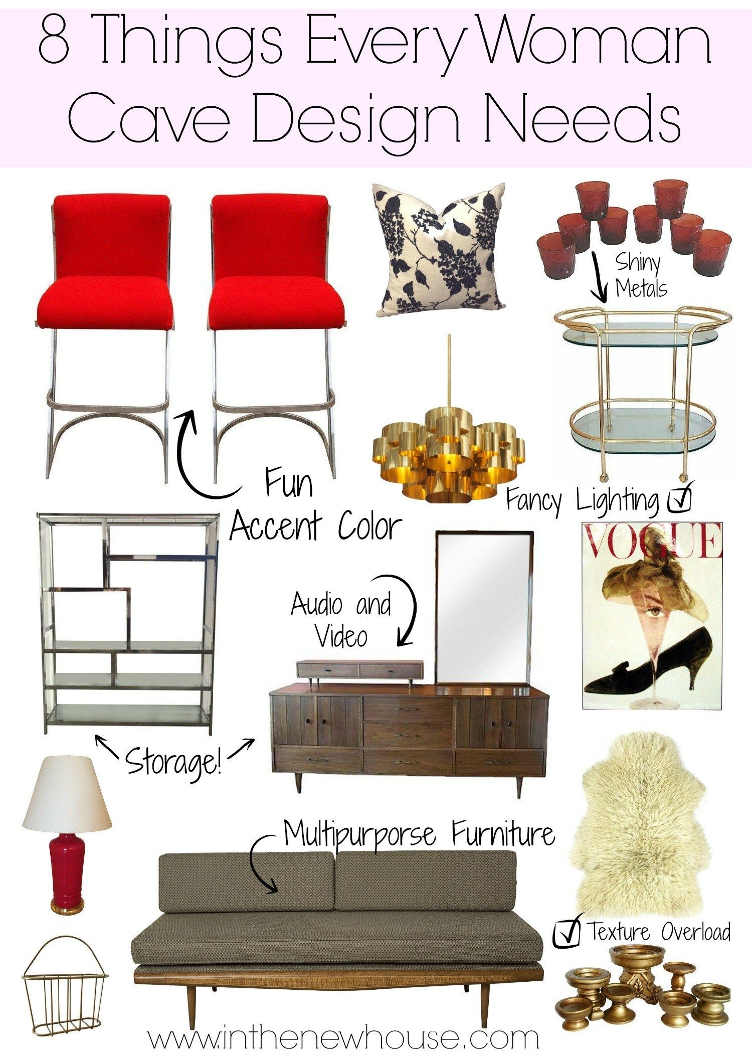 Photo of 8 Things Every Woman Cave Design Needs