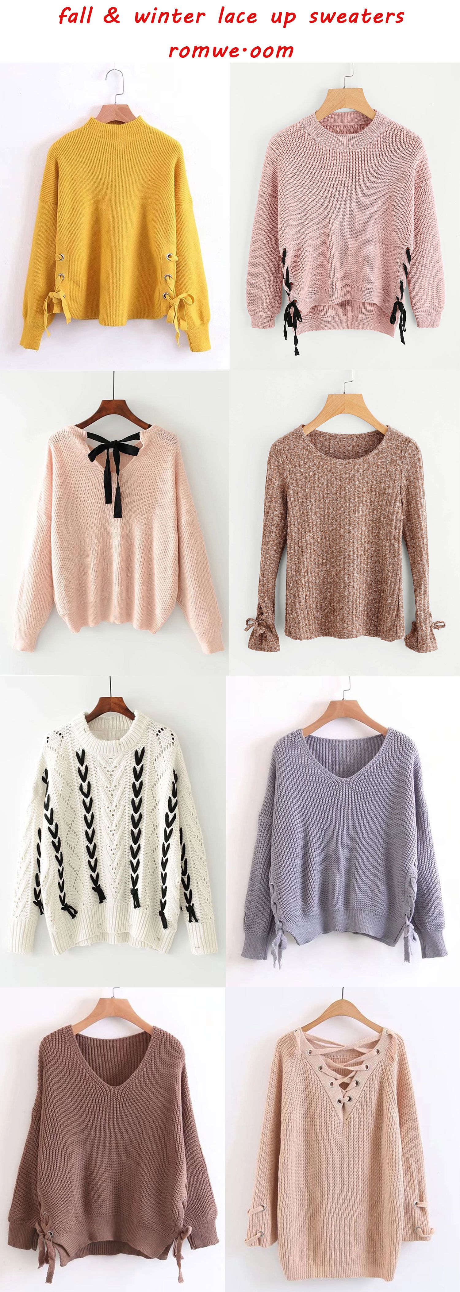 cute & cozy lace up sweaters - romwe.com | Romwe Hot Buy ...
