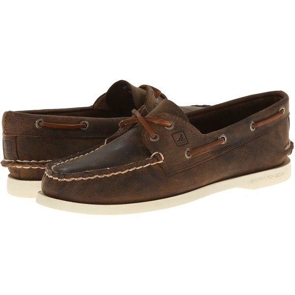 Sperry A O 2 Eye (Brown Distressed) Women s Slip on Shoes ( 41 ... 5743c0b0b