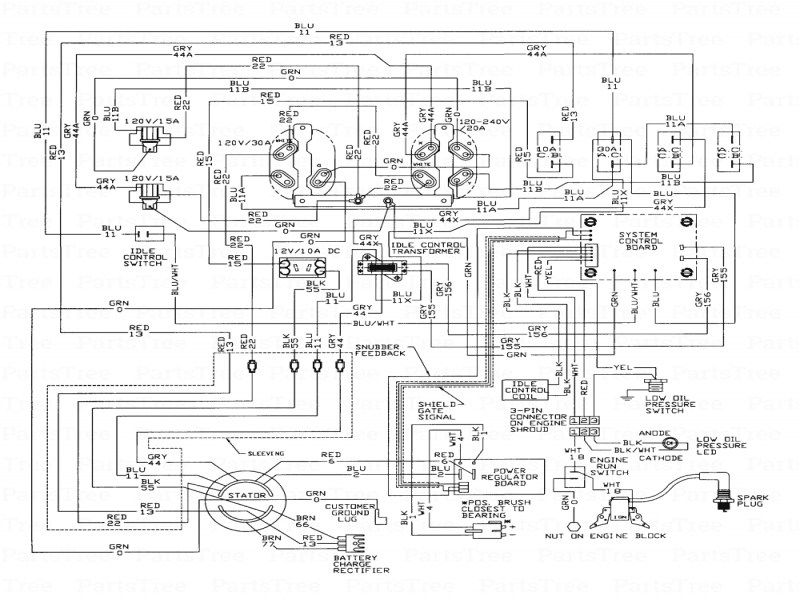 12500 Onan Generator Wiring Diagram Onan Diagram Generator Parts