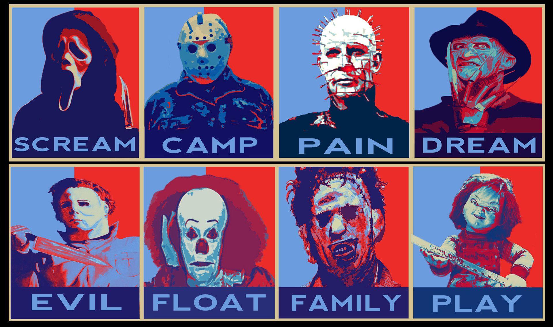 Michael Myers Freddy Jason Leatherface Chucky Pinhead Live