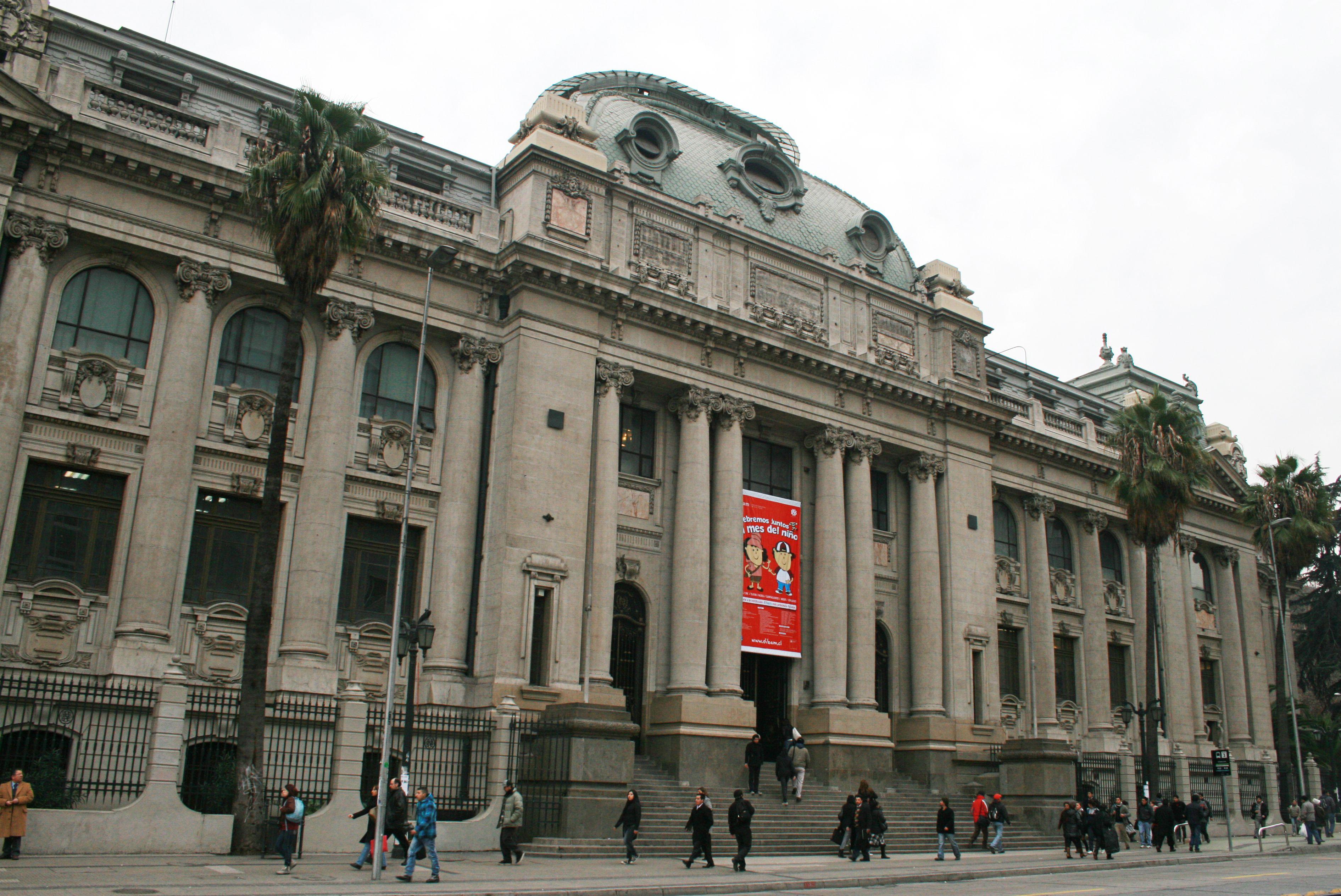 Biblioteca Nacional Santiago Chile Fundada En 1813 Por Jose