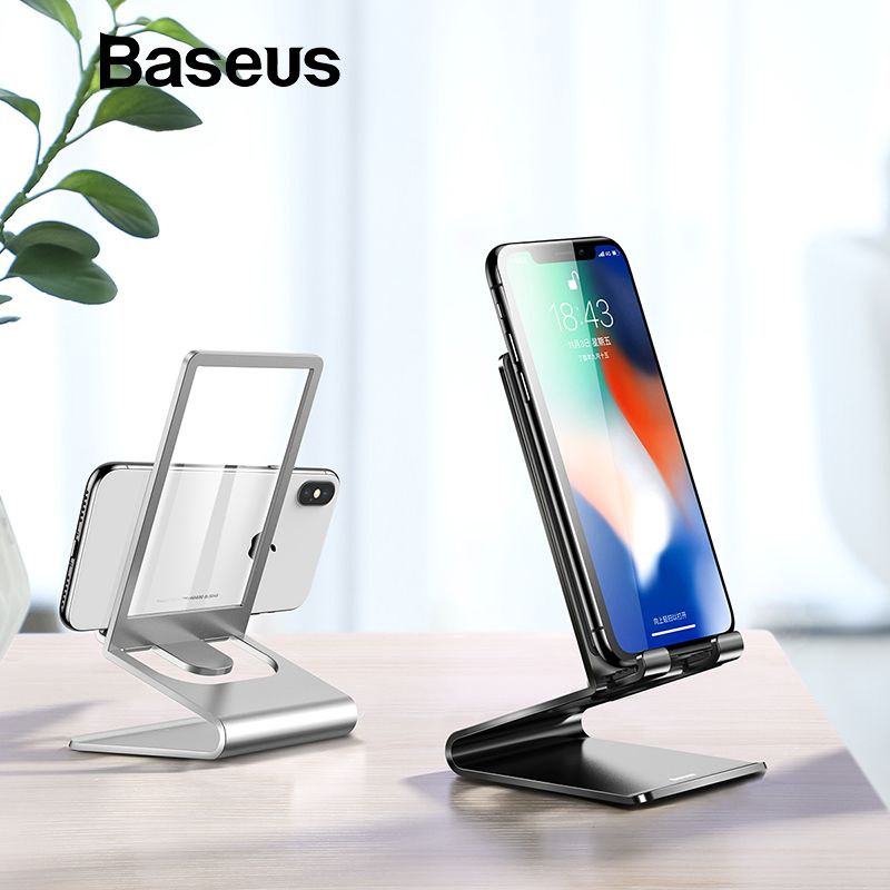 Baseus Metal Phone Holder Stand For Home Bed Office Desk Desktop Phone Stand For Iphone 8 Ipad Tablet Mobile Mobile Phone Holder Desk Phone Holder Phone Holder