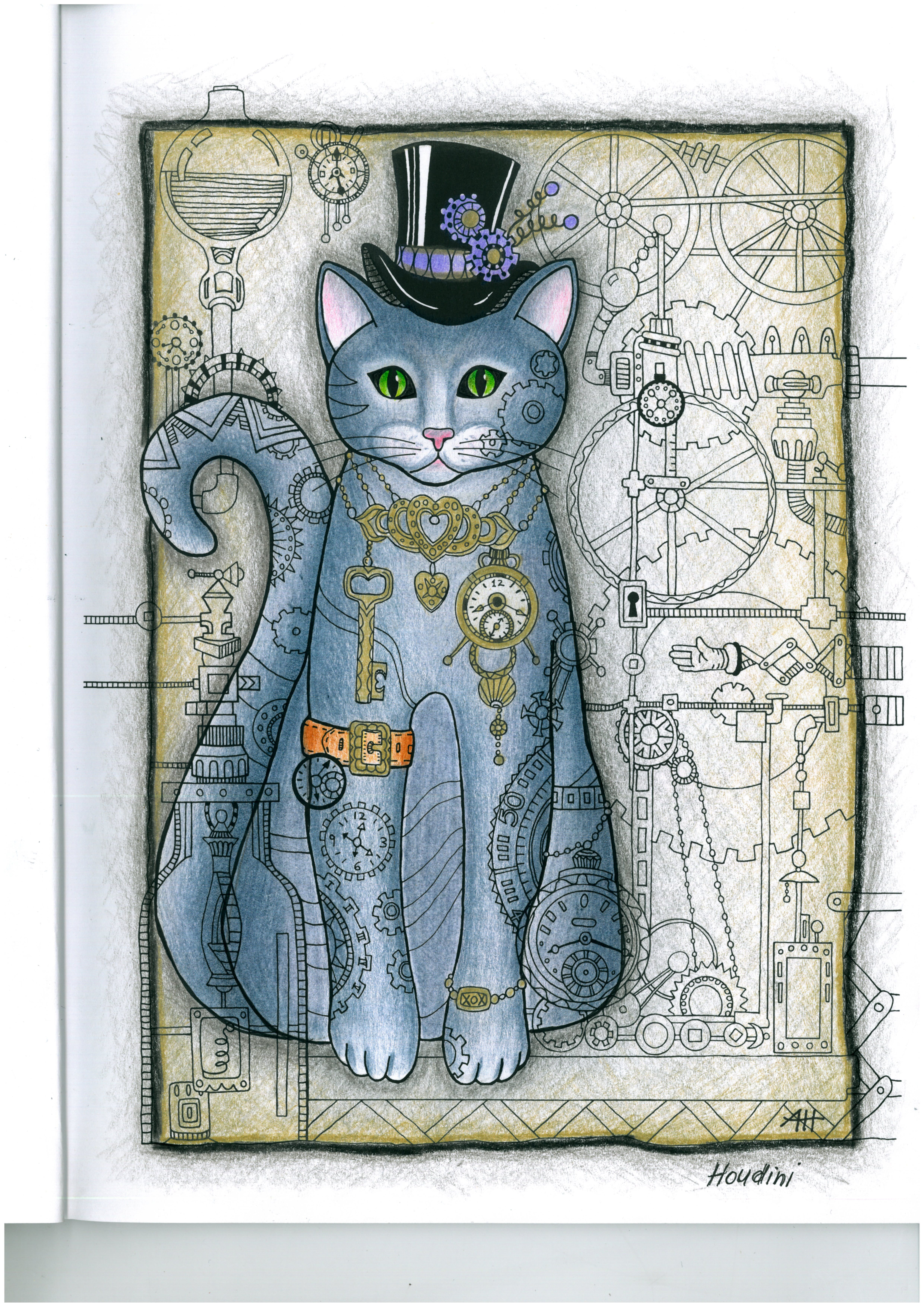 another cat from creative cats colouring book