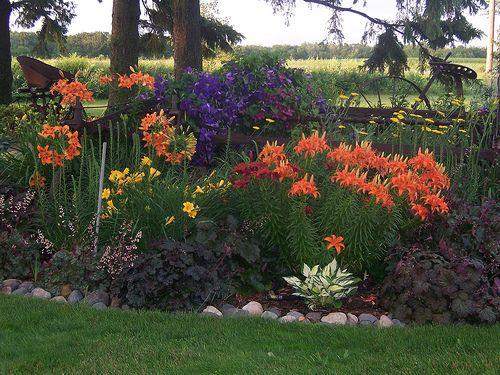 Lovely 100_1673Perennial Garden, Wisconsin, Gardens, Landscaping, Clematis,  Heuchera, Lilly, Garden