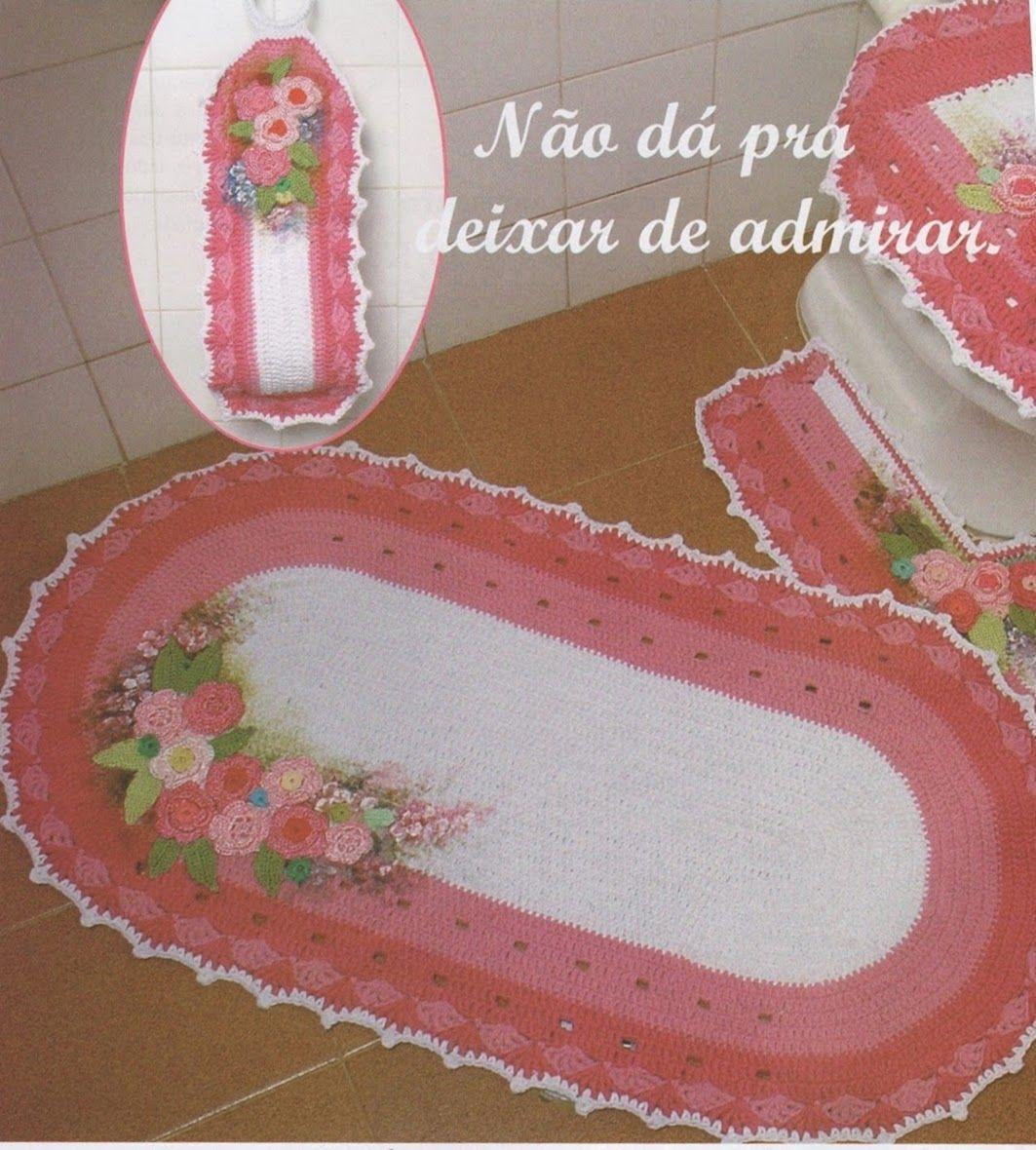 Feito com flores de crochê e repare na composição com a pintura!