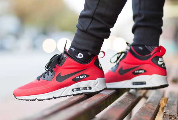 new arrival 1797d d03e8 Nike Air Max 90 Mid Winter Gym Red