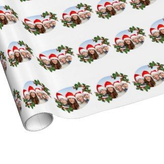 Christmas Holly Gift Wrap Paper