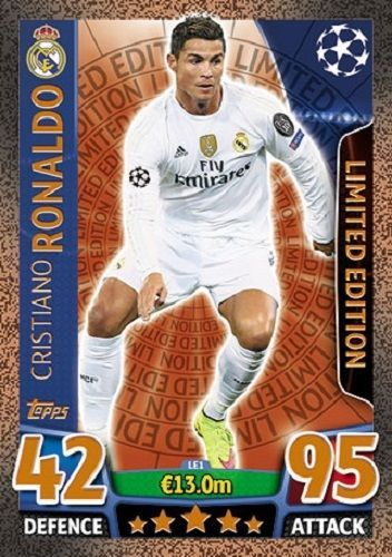 Match Attax Champions League 2016 Bronze Limited Edition Ronaldo Real Madrid Match Attax Champions League 2016 Ronaldo Real Madrid