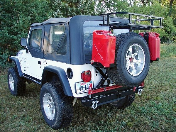 Rock Hard 4x4 Patriot Series Rear Bumper With Tire Carrier For