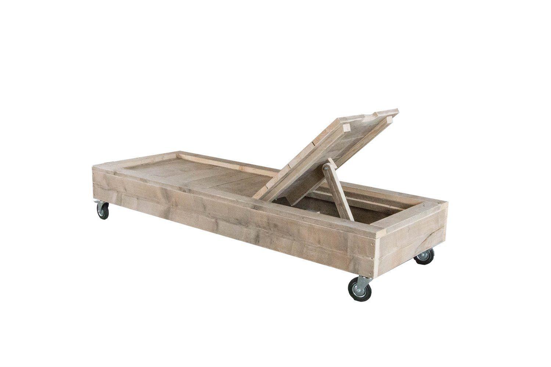 Ligbed Ligbed Dutchwood Steigerhouten Meubelen Bauen Mit Holz Holz Sonnenliege