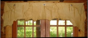 Cowhide Window Valance Curtains Home Decor Home