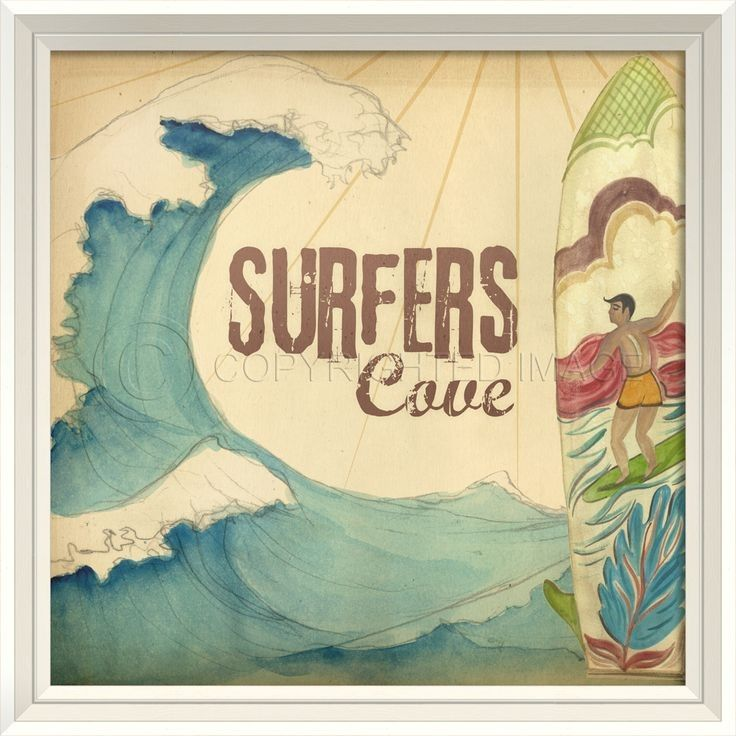 Surfer\'s Cove Wall Art | Coastal living magazine, Living magazine ...