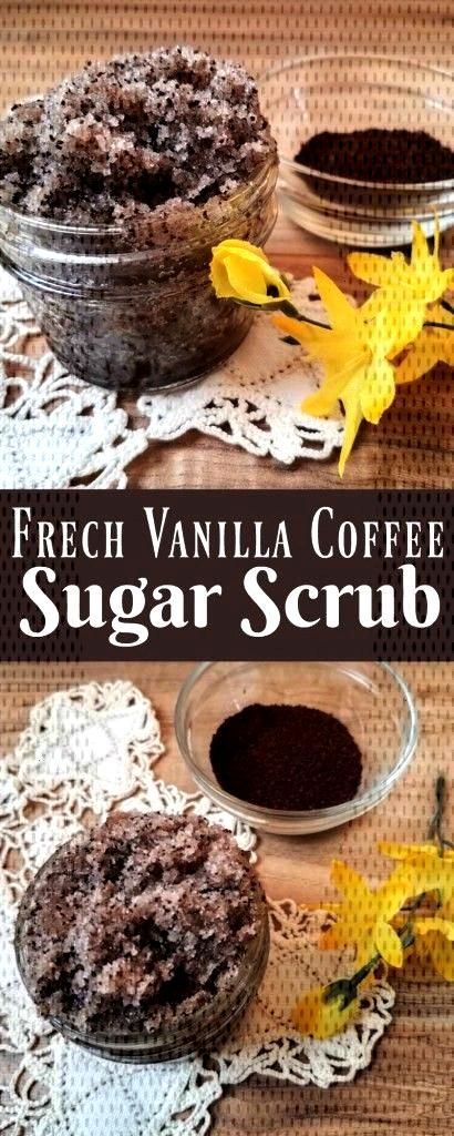 Vanilla Coffee Sugar Scrub  Making your own sugar scrub is so simple, that there really is no reaso