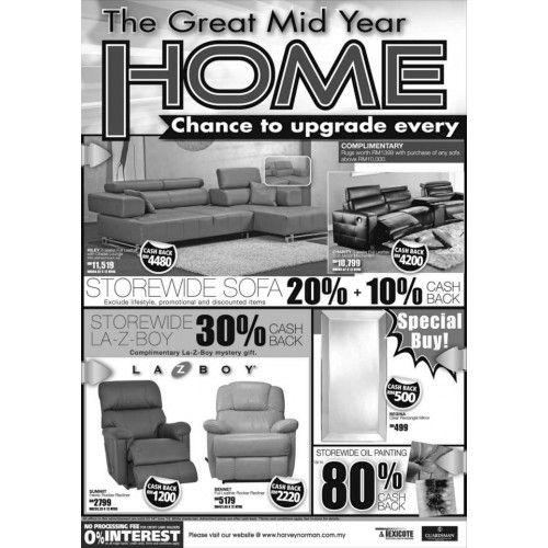 Harvey Norman The Great Mid Year Home Fair (Furniture)