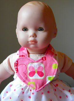 Make a cute doll bib with this tutorial