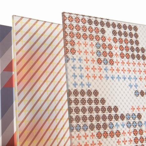 Patricia Urquiola adds grid-based patterns to architectural glass: http://www.dezeen.com/?p=721628 #design
