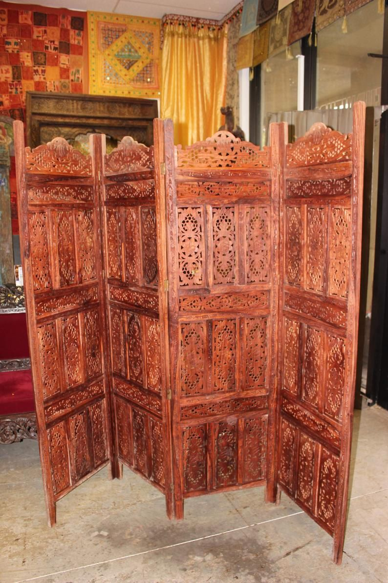 2dc762b63624d Attractive Room Divider with Antique Style Handcarved Authentic ...