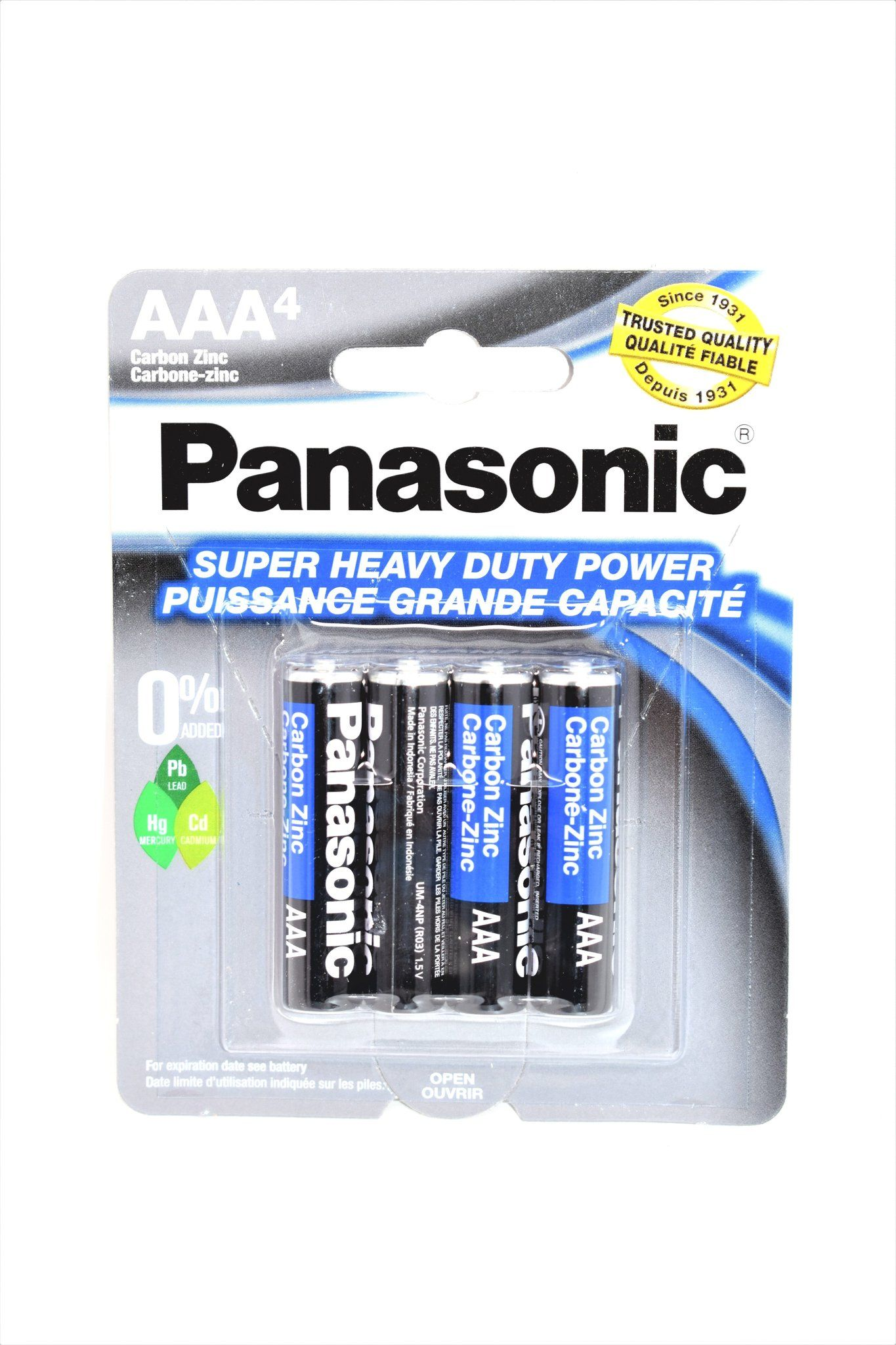 Panasonic Aaa Super Heavy Duty Power Batteries 4 Ct Heavy Duty Panasonic Heavy