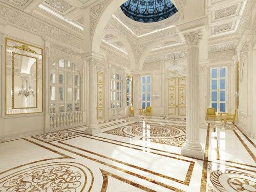 Main Hall In Individual Palace Luxury Townhouse
