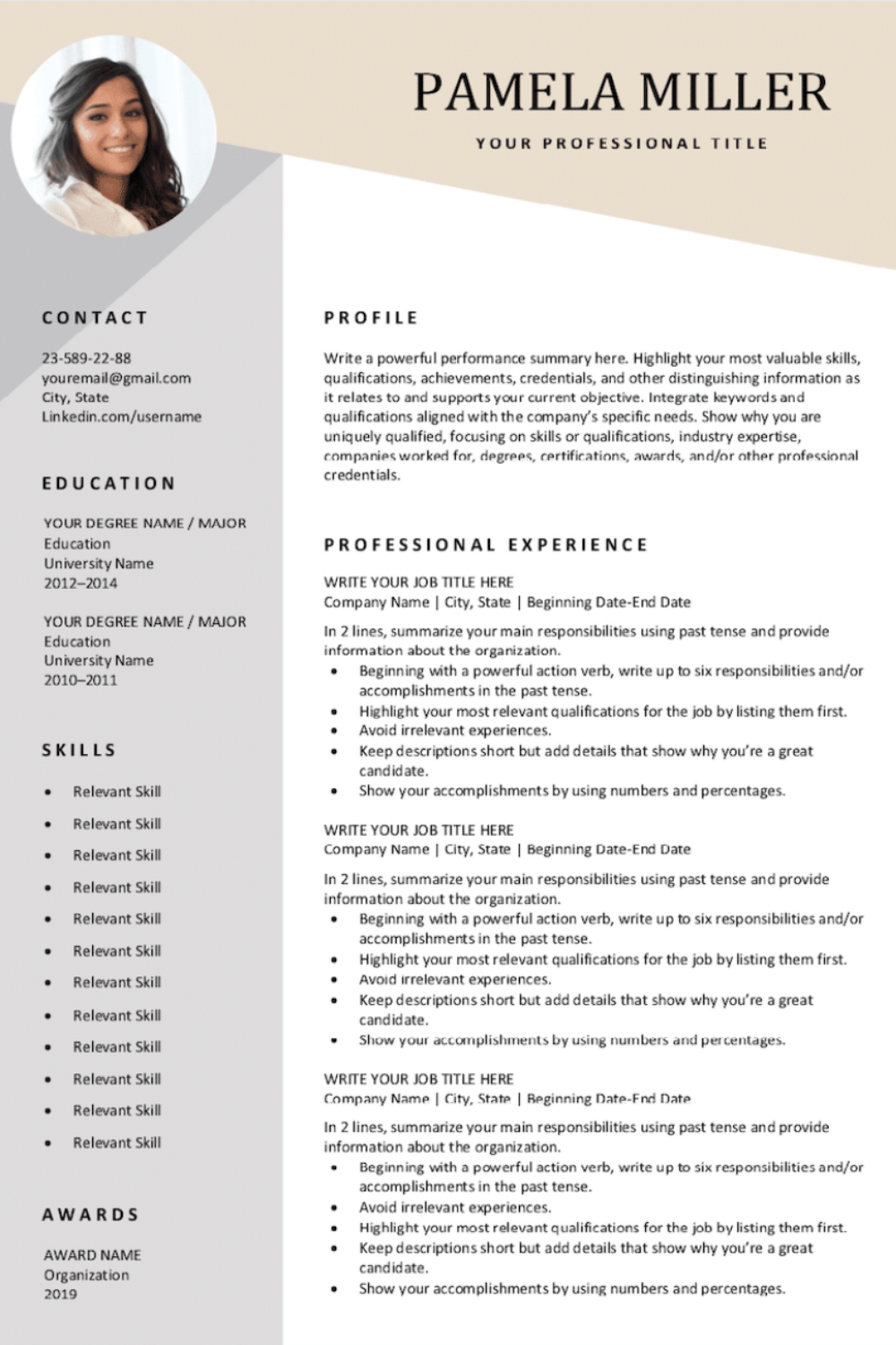 Download our completely free resume templates. Easy to ...