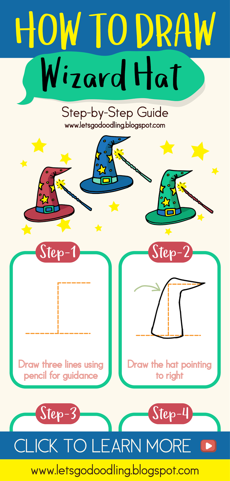 How to Draw a Wizard Hat (Easy Step by Step Drawing