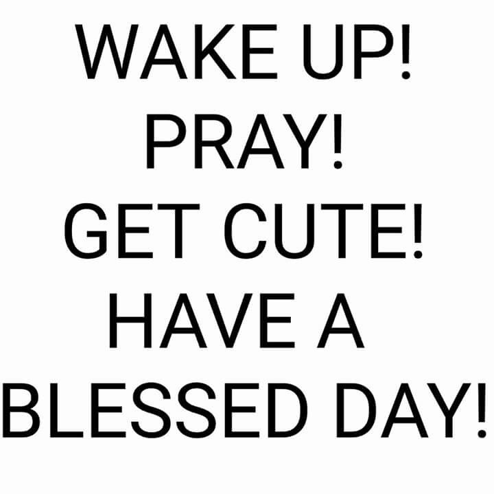 Wake Up Pray Get Cute Have A Blessed Day Blessed Morning Quotes Morning Quotes Funny Encouragement