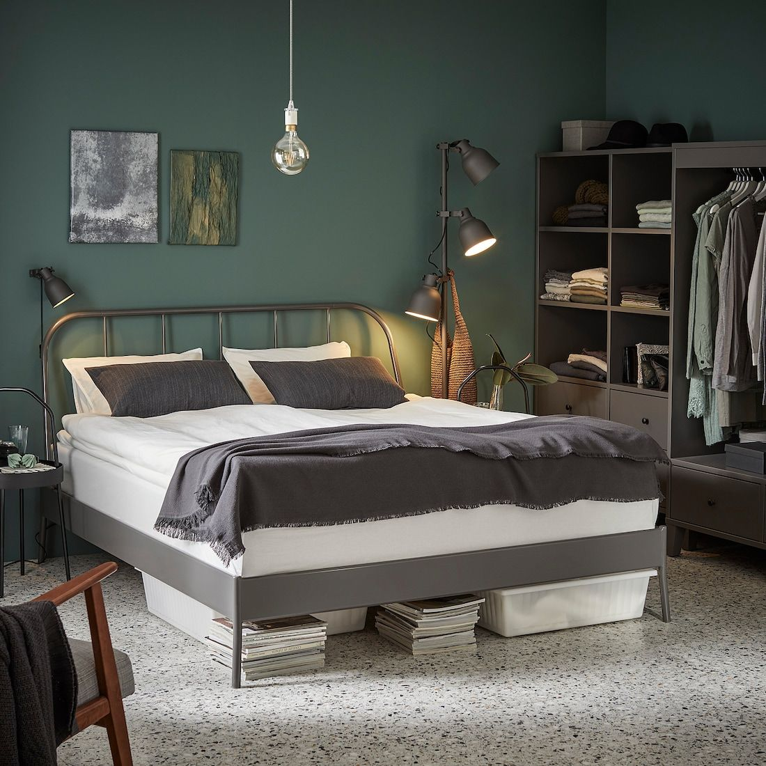 Kopardal Bed Frame Gray Lur 246 Y Queen In 2020 Bed Frame Bed Slats Bed