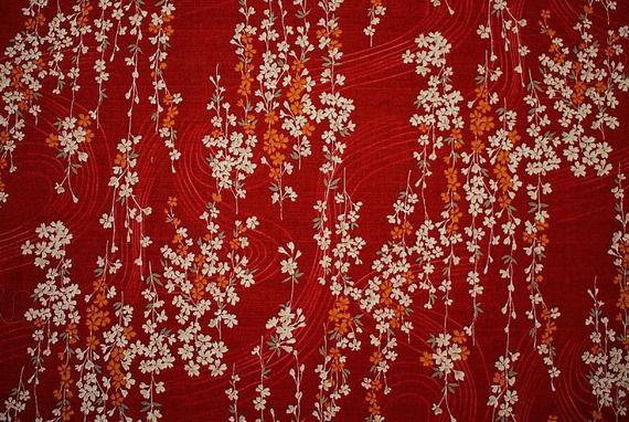 tissu japonais fleuri tissu style