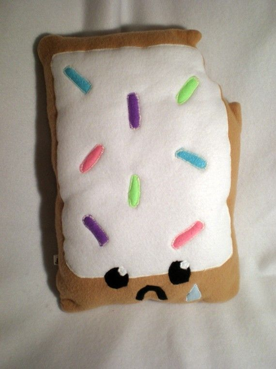 Cute Food Pillows Diy : Sad Poptart Plush Pillow MADE TO ORDER by Higginstuff on Etsy, $20.00 Kawaii :) Pinterest ...