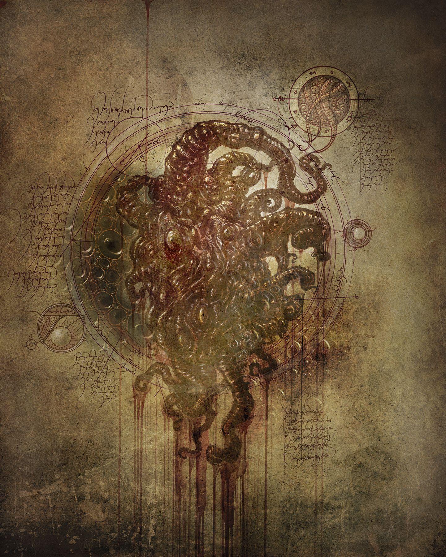 Dark Young Xvi Seal Of Confinement In 2020 Necromancer Book Creature Art Demonology