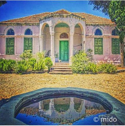 إحدى الدور التراثية في النبطية جنوب لبنان House Styles Old Houses Outdoor
