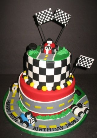 Race Car Cakes For Kids Race Cars Zipping Around The Track For A