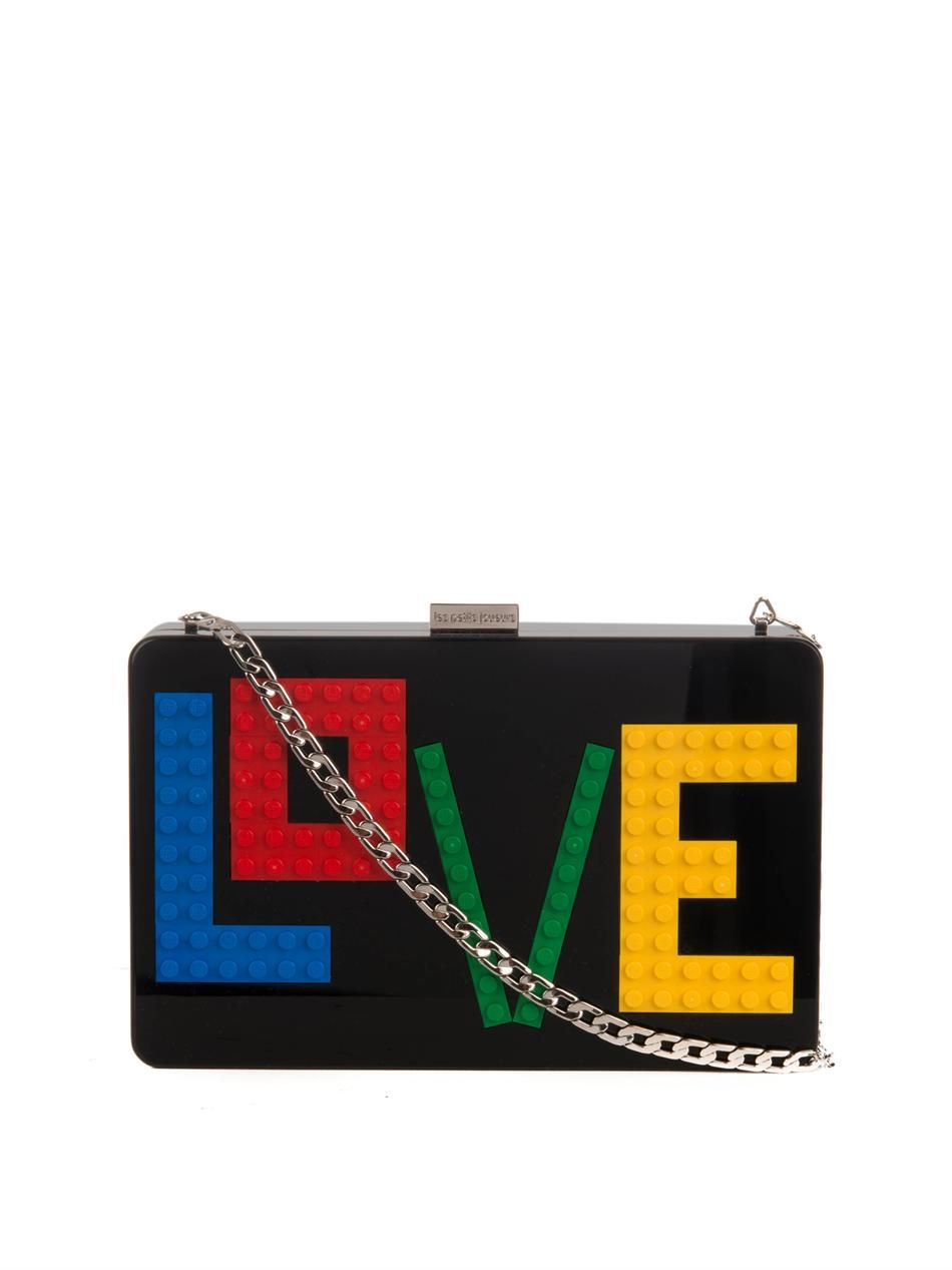 757555fc3b Lego purse! Les Petits Joueurs Andy Rainbow Love Perspex clutch at  Matchesfashion.com
