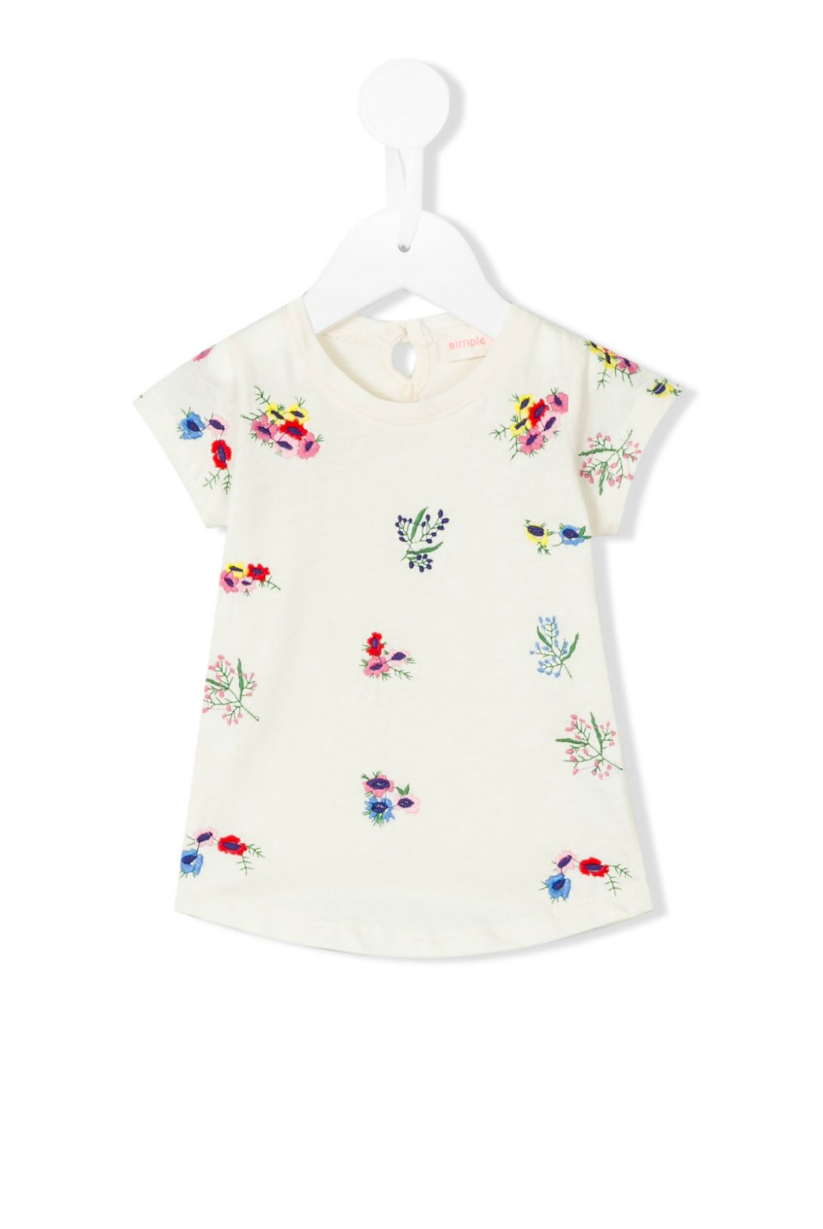 Floral Embroidered Tee | Simple Kids
