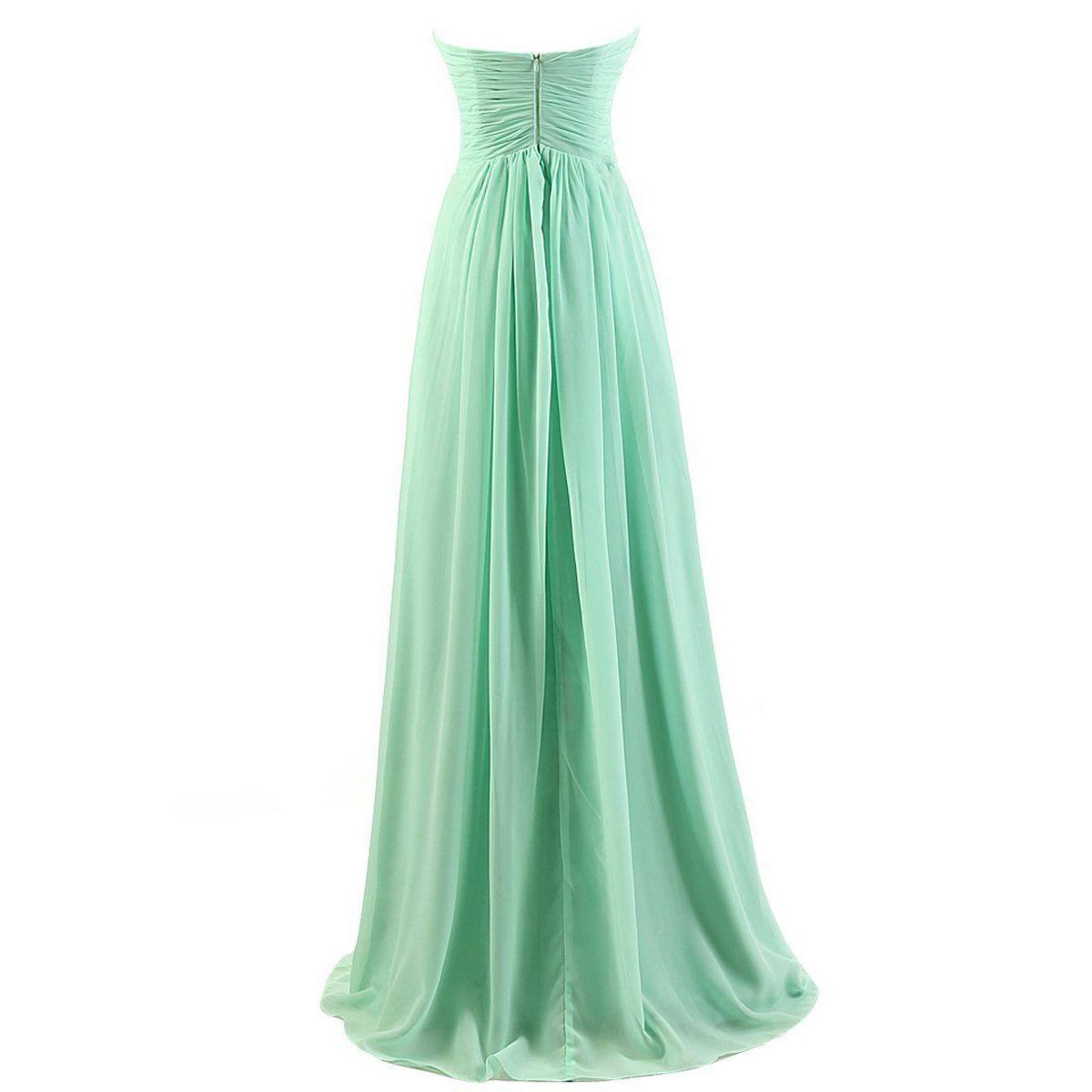 Tngan sweetheart bridesmaid chiffon prom dresses long evening gowns