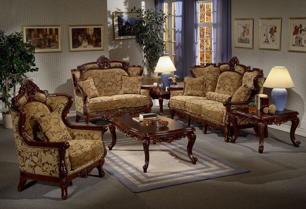 The Boulevard Des Italiens Elegant Italian Style Upholstered Sofa With Wood Trim Livi Living Room Sets Furniture Living Room Sets Italian Furniture Living Room