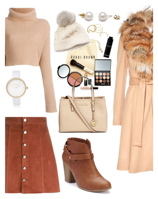 """Autumn style"" by catarinaferreira-cf ❤ liked on Polyvore featuring Alice + Olivia, Valentino, Bobbi Brown Cosmetics, LC Lauren Conrad, SIJJL, River Island, Theory and Michael Kors"