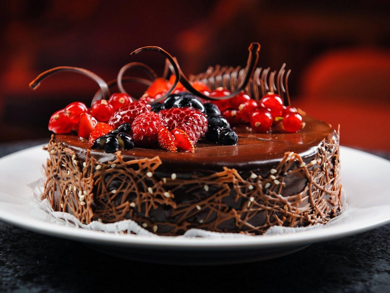 Group of Beautiful Chocolate Cake Hd