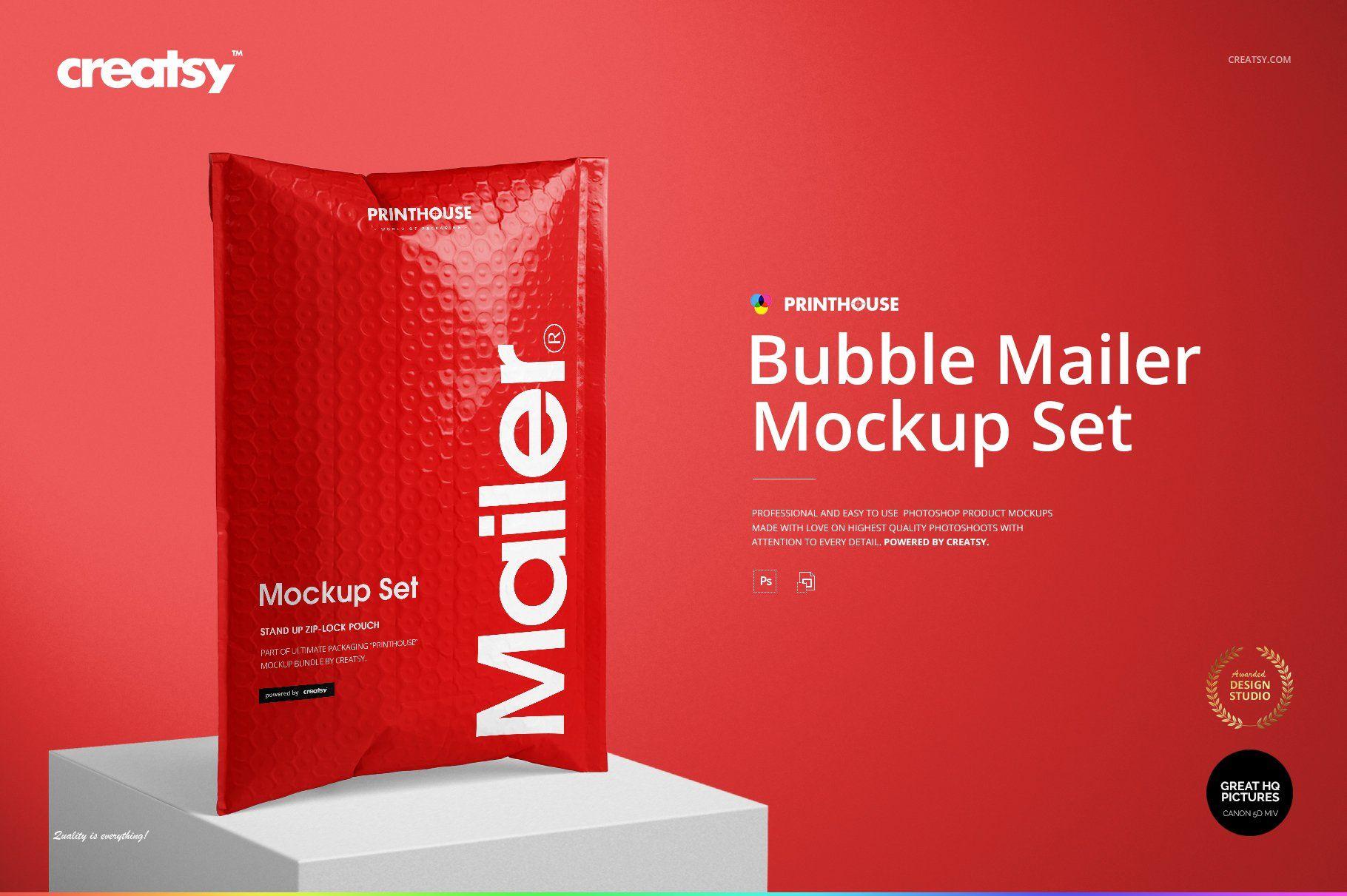 Download Bubble Mailer Mockup Set Book Cover Mockup Mockup Bubbles