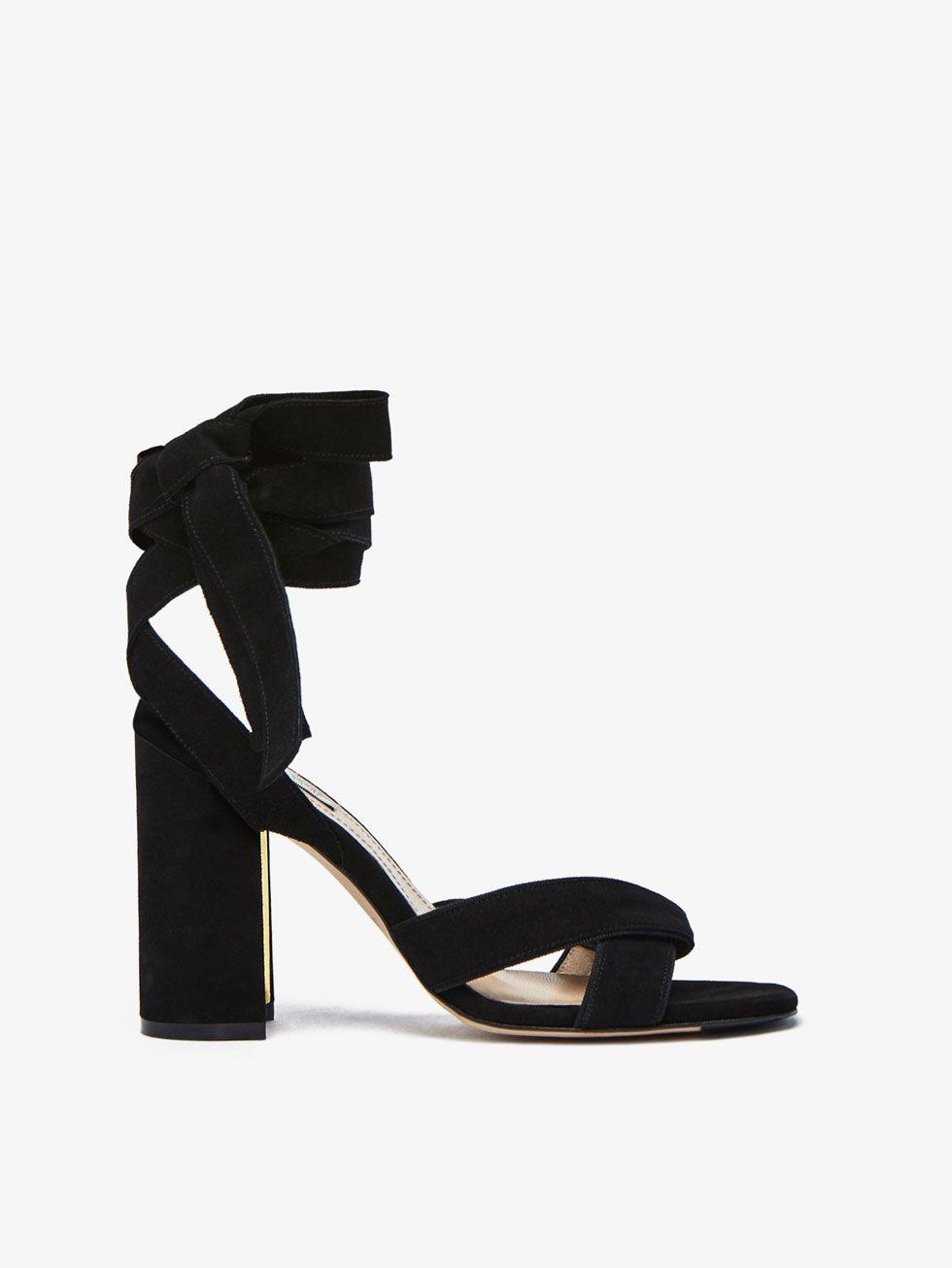 Tacón Limited Sandalia Up Piel Edition De Negra Zapatos Lace Mujer OZkXiuP