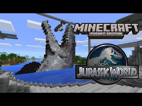 Jurassic world in minecraft pocket edition youtube minecraft jurassic world in minecraft pocket edition youtube gumiabroncs Images