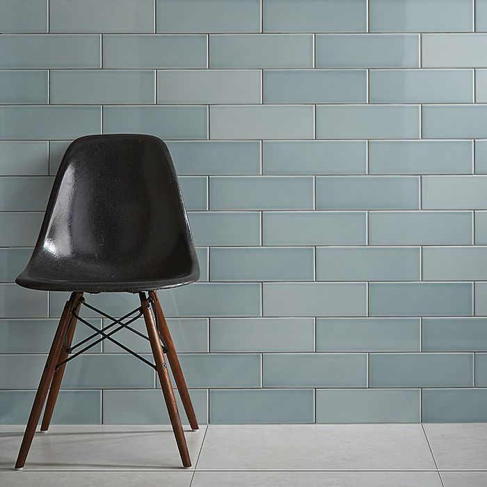 Brick Shaped Tiles In Green Leaf Colour With Varied Tones To Create A Very Stylish Effect Any Kitchen Or Bathroom