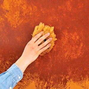 Wall Paint Effect Using Sponge Sponge Painting Wall Painting