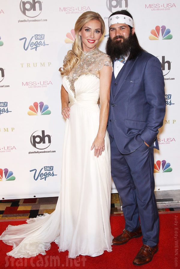 duck dynasty jep robertson with wife jessica robertson on the red - Jase Robertson Halloween Costume