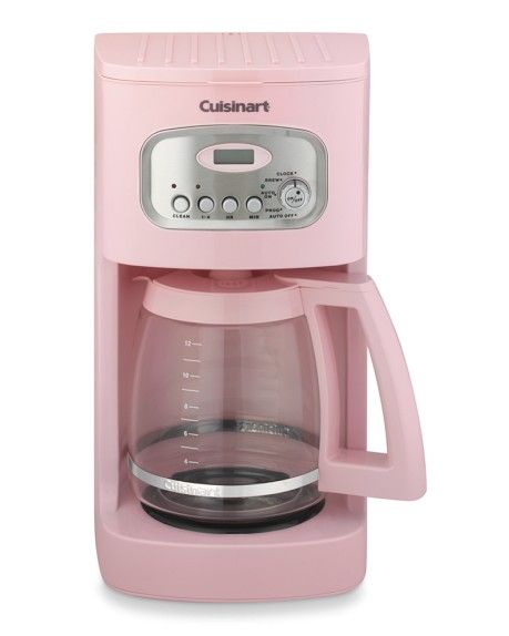 Cuisinart 12 Cup Programmable Coffee Maker With Glass Carafe Pink Pink Kitchen Coffee Maker Pink Life